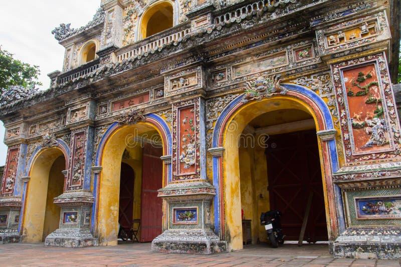 Hue citadel gate. Gate of Citadel in Hue, Vietnam stock photo