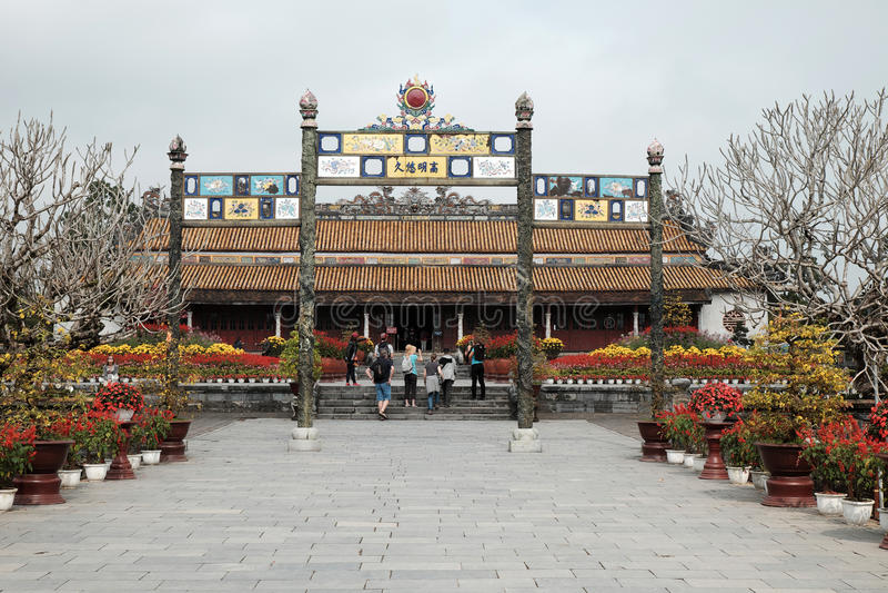 Hue Citadel, herança da cultura, Dai Noi, Vietnam, ngo segunda-feira imagens de stock