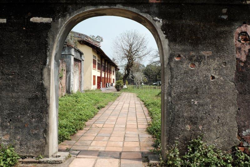 Hue Citadel, herança da cultura, Dai Noi, Vietnam, ngo segunda-feira imagem de stock