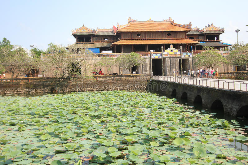 Hue Complex of Hue Monuments in Vietnam stock image
