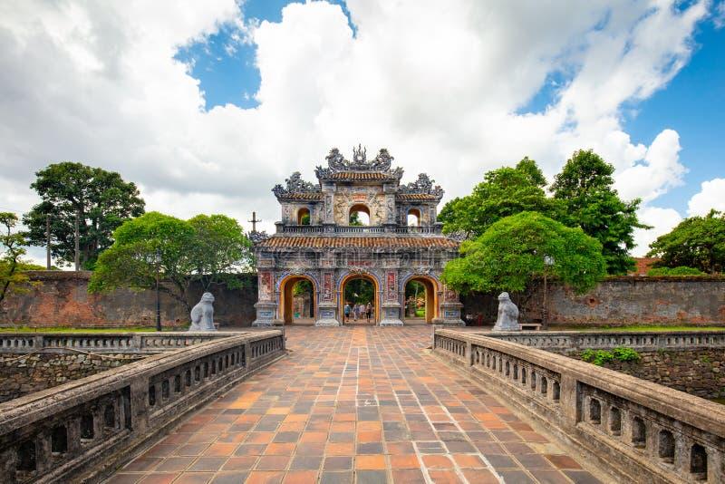 Hue Imperial Citadel stockbilder
