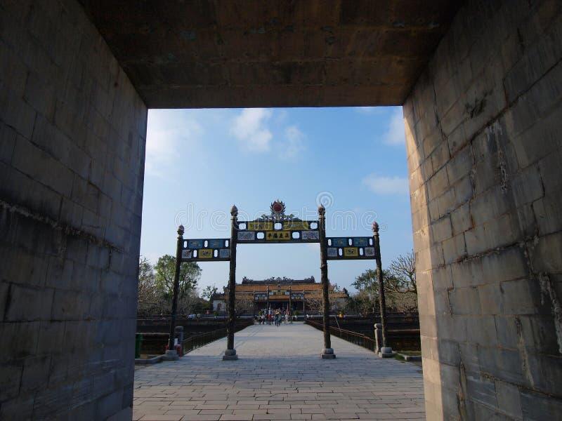 Hue Imperial City (la ciudadela), tonalidad, Vietnam. Mundo Heri de la UNESCO fotografía de archivo