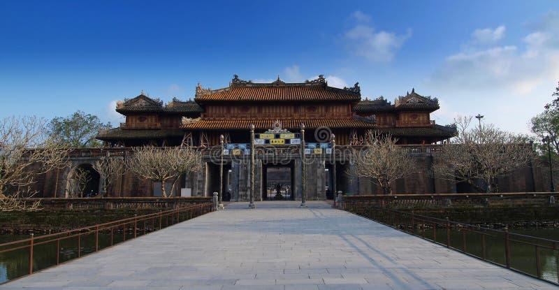 Hue Imperial City (la ciudadela), tonalidad, Vietnam. Mundo Heri de la UNESCO imagen de archivo