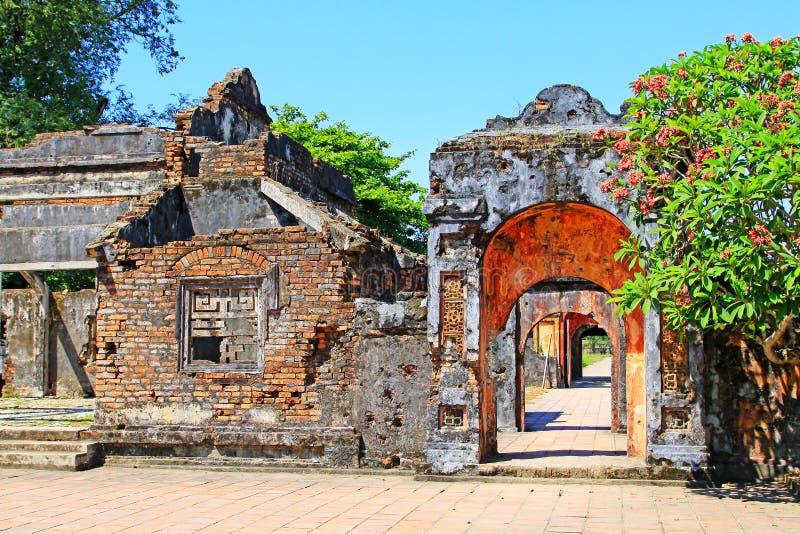 Hue Imperial City, patrimônio mundial do UNESCO de Vietname fotos de stock royalty free