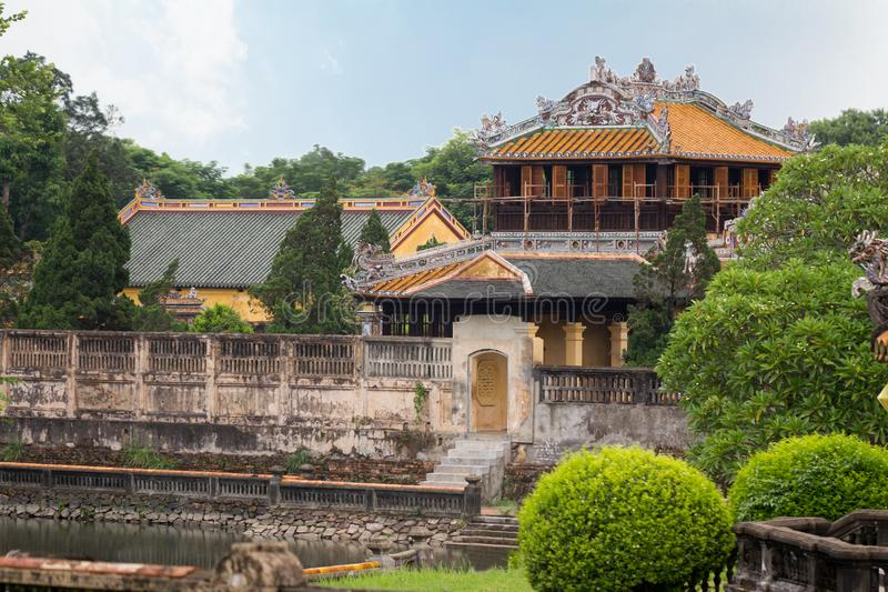 Hue imperial city. In Vietnam stock photography
