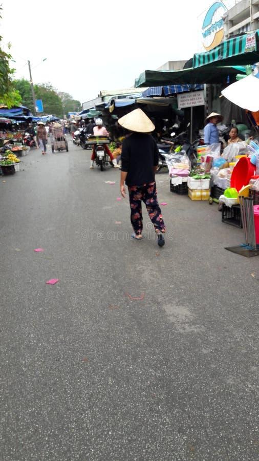 Hue market fruit stock photo