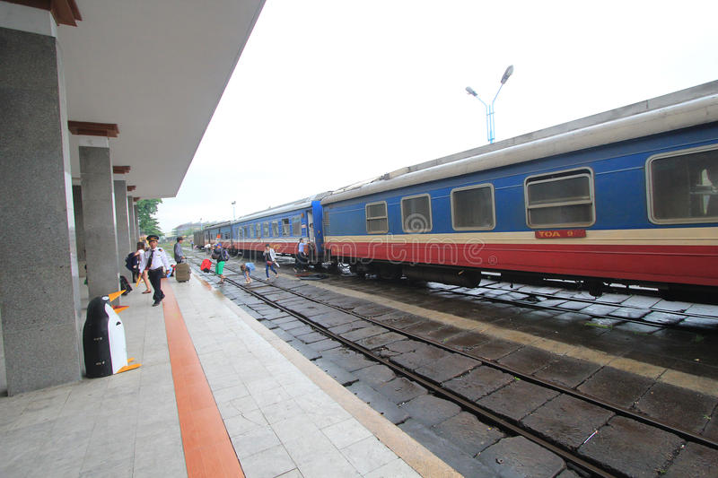Hue Railway Station in Vietname. View of Hue Railway Station. Hue Railway Station is a railway station in the city of Hue, Vietnam on the main North–South stock photography