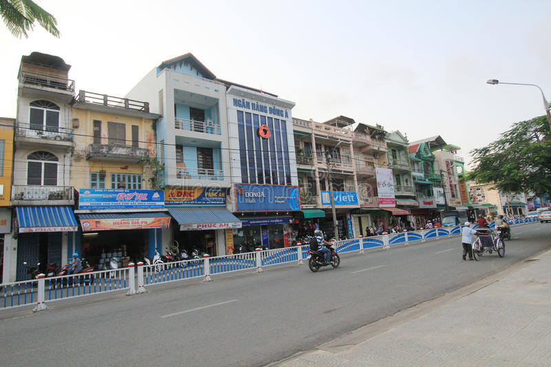 Hue street view in Vietnam royalty free stock photos
