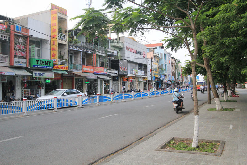 Hue street view in Vietnam stock photos