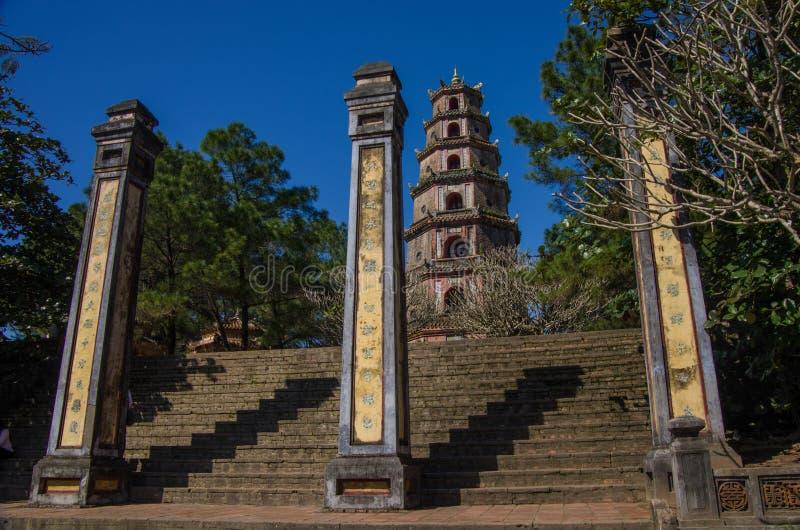 Hue, Vietnam 5 janvier 2015 : Pagoda de Thien MU photo stock