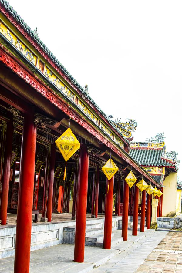 HUE, VIETNAM, le 28 avril 2018 : Royal Palace impérial de dynastie de Nguyen en Hue, Vietnam photographie stock libre de droits