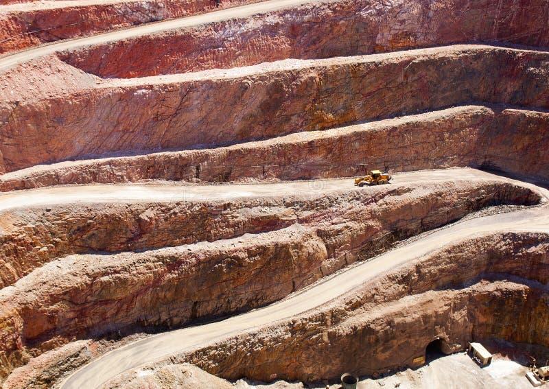Hueco de la explotación minera imagen de archivo libre de regalías