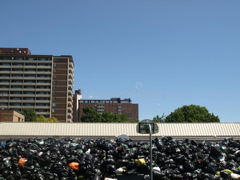 Huelga de la basura de Toronto en el parque del musgo fotos de archivo libres de regalías