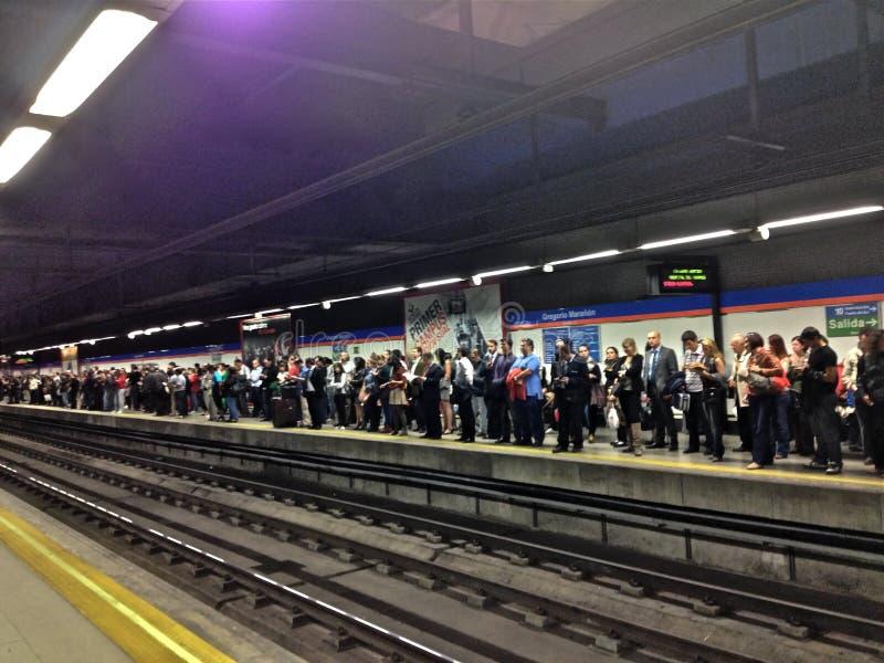 Huelga del metro foto de archivo libre de regalías