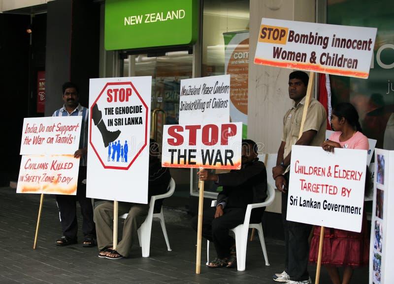 Huelga en la calle en Auckland foto de archivo libre de regalías