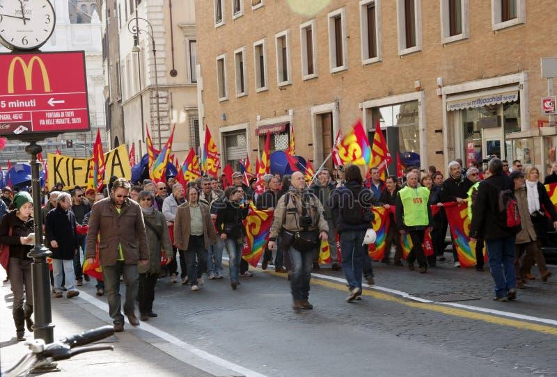 Huelga pública de los trabajadores foto de archivo