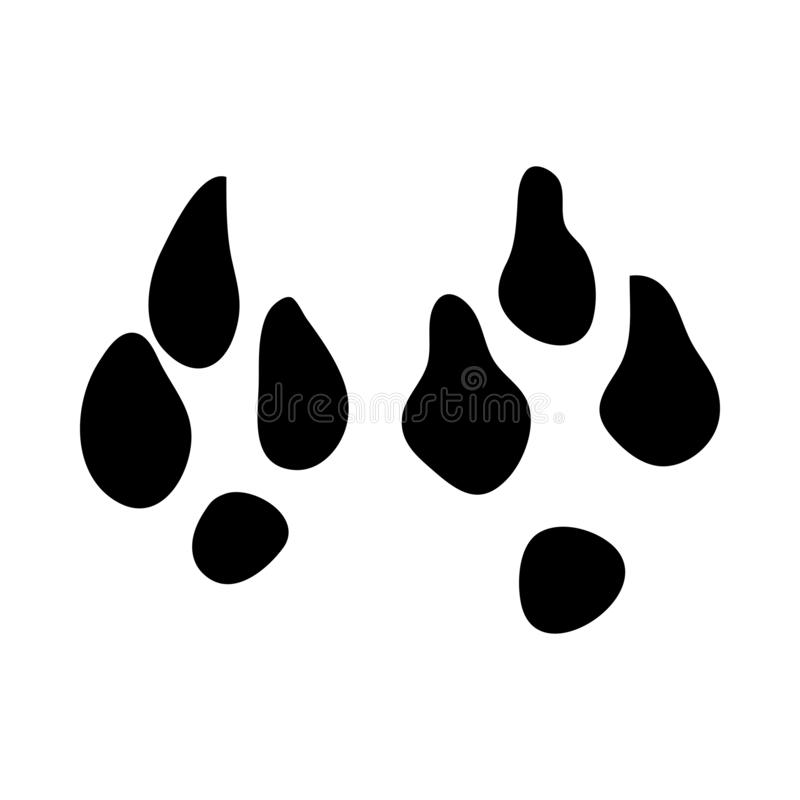 Huella Cinco-tocada con la punta del pie del jerbo stock de ilustración