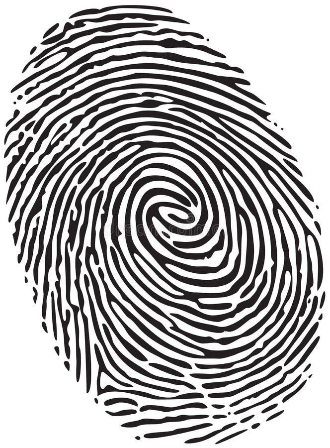 Huella dactilar stock de ilustración