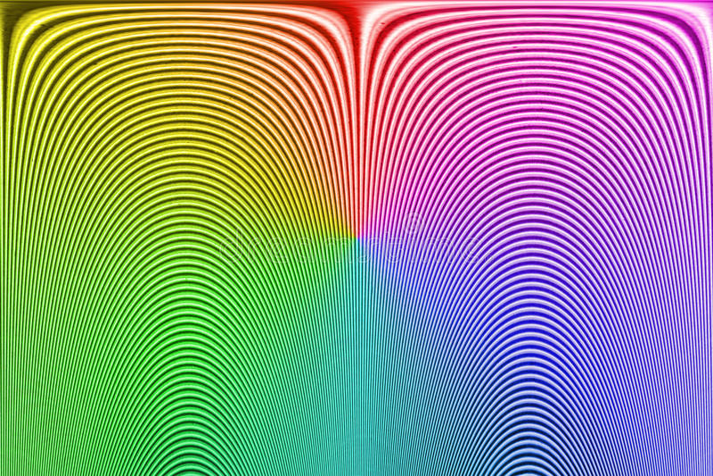 Huella dactilar desconocida del arco iris abstracto, línea curvada montón, fotografía de archivo libre de regalías