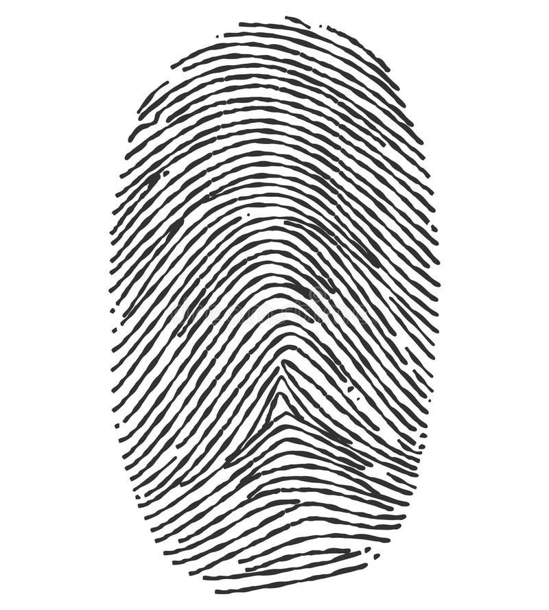 Huella dactilar - ejemplo fotos de archivo libres de regalías