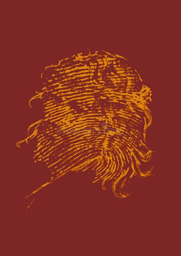 Huella dactilar eterna stock de ilustración
