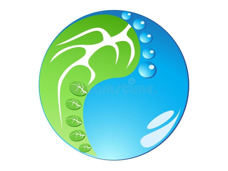 Huella de Eco en forma de la ji del tai ilustración del vector
