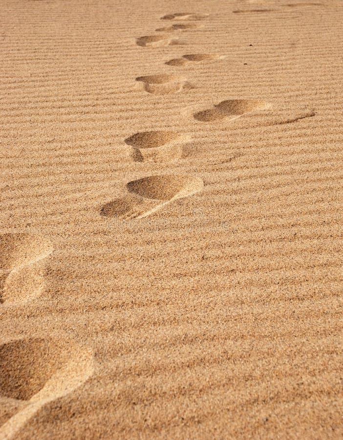 Huella de la arena fotografía de archivo