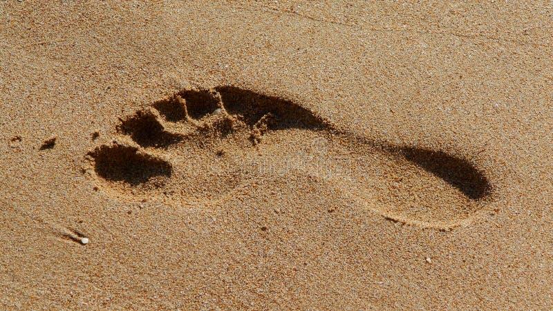 Huella de la arena imágenes de archivo libres de regalías