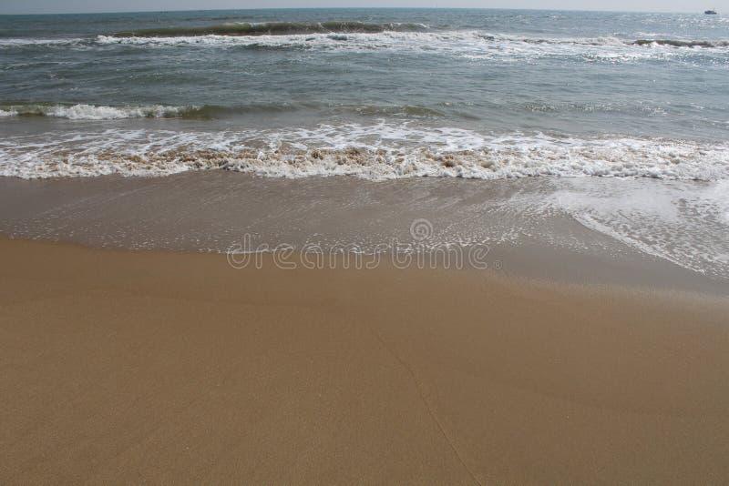 Huella de la arena de la playa de Paradise en la arena imagenes de archivo