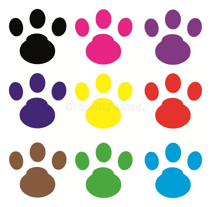 Huella del gato stock de ilustración