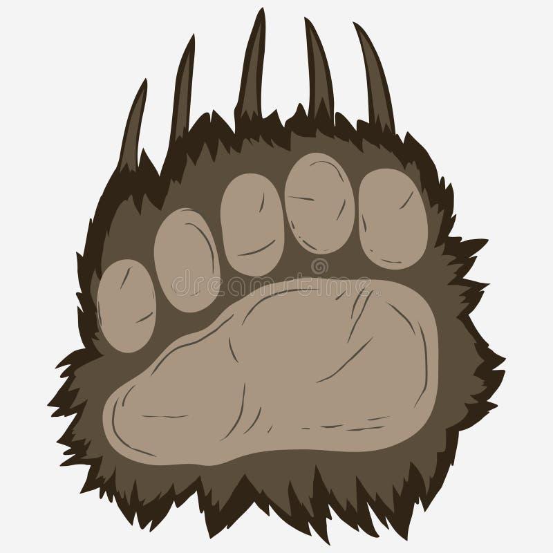 Huella del oso, impresión de la pata del grisáceo Vector libre illustration