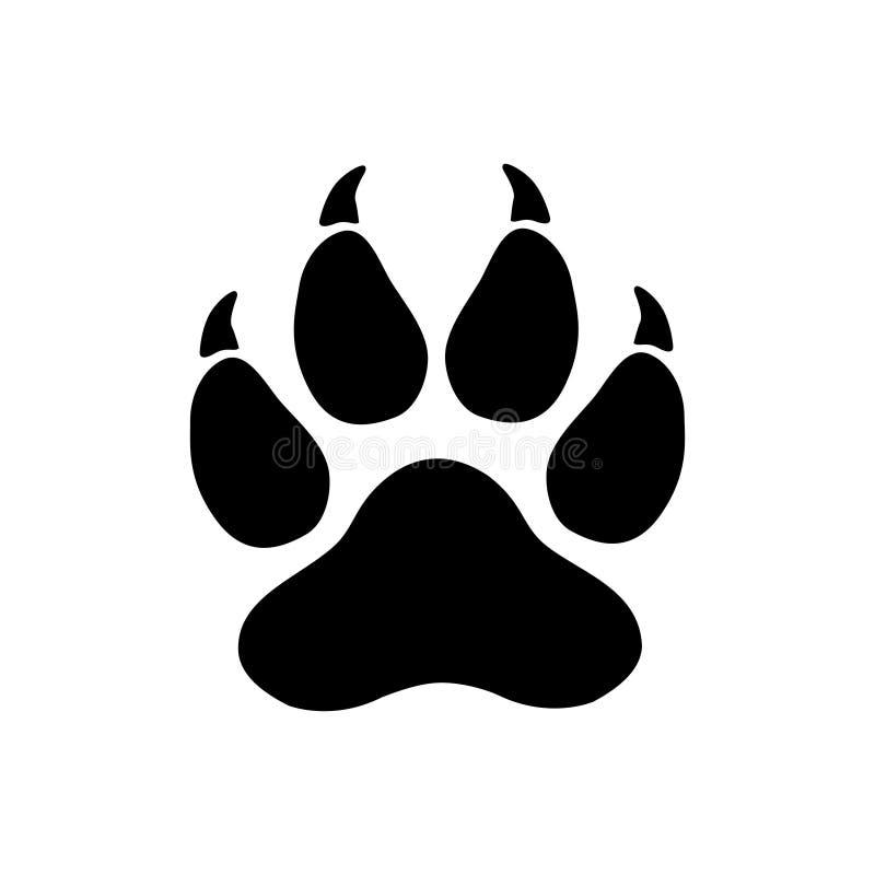 Huella del tigre stock de ilustración