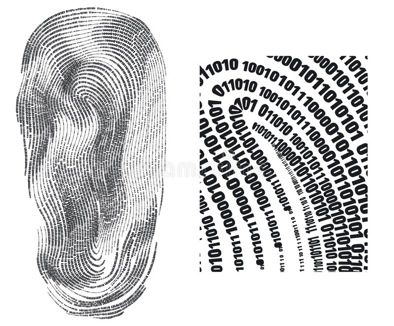 Huella digital libre illustration
