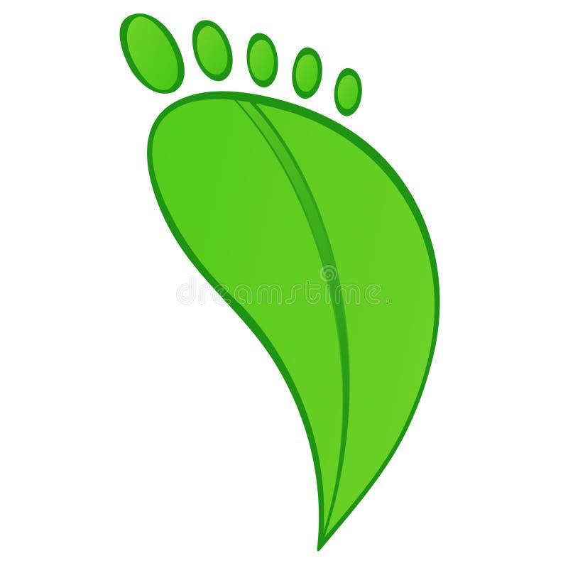 Huella verde ilustración del vector
