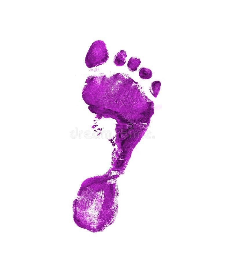Huella violeta stock de ilustración
