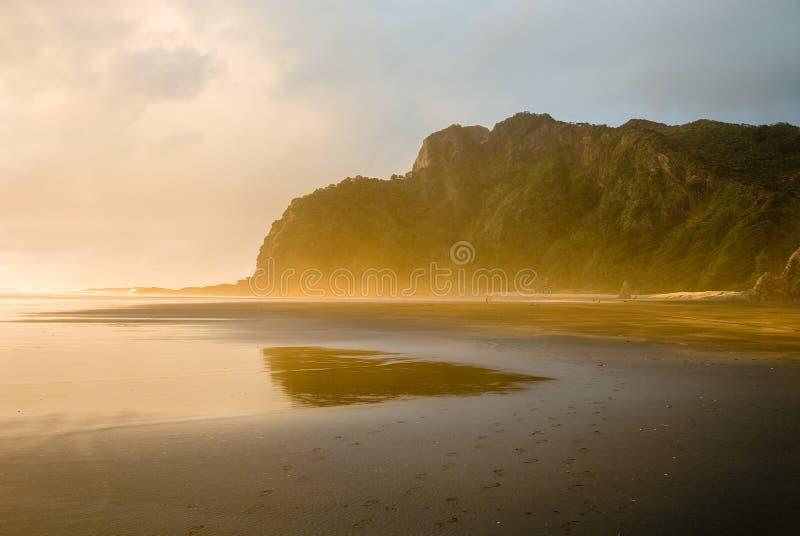 Huellas de la playa fotografía de archivo