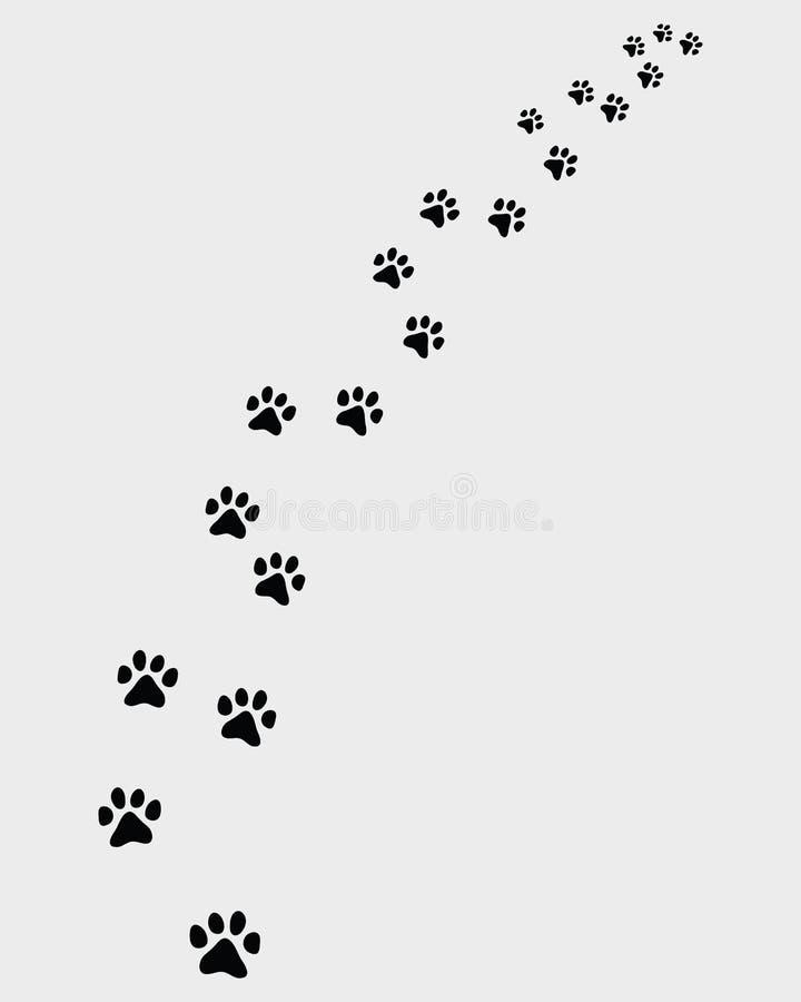Huellas del gato stock de ilustración