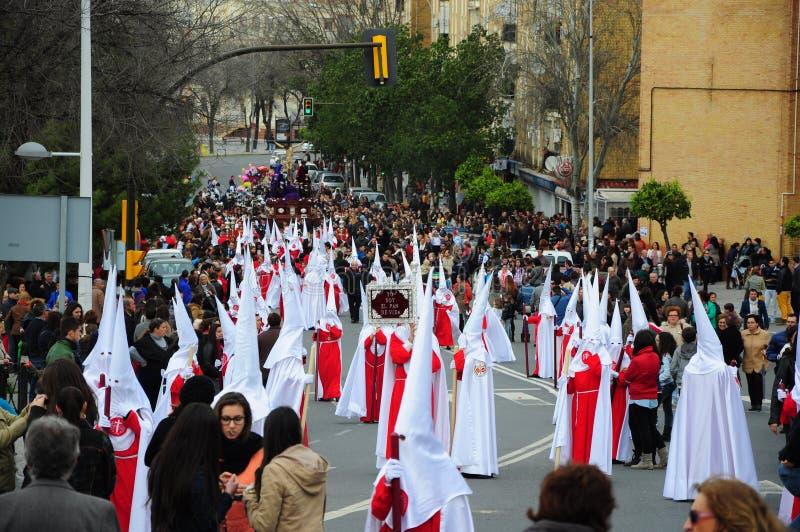 Heilige Week op de Maandag van Pasen, Andalusia, Spanje stock foto