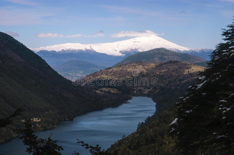 Huerquehue nationaal Park, Pucon Chili stock afbeelding