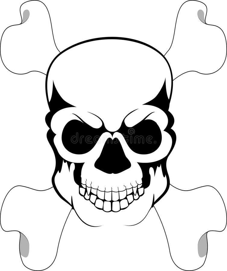 Hueso y cráneo stock de ilustración