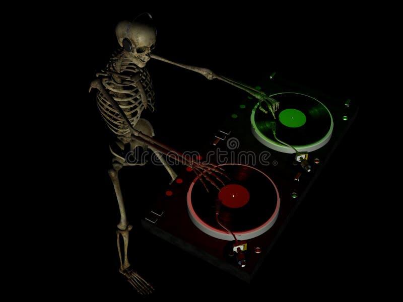 Huesos 3 de DJ ilustración del vector
