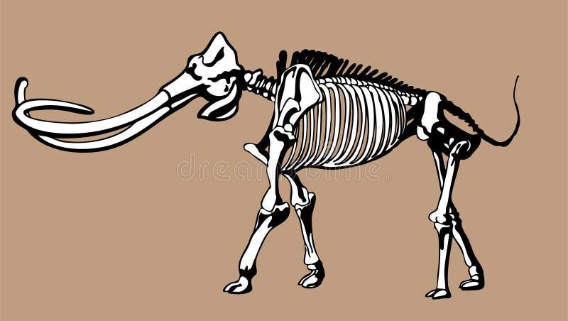 Huesos gigantescos ilustración del vector