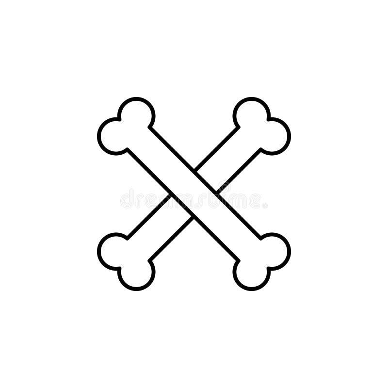 huesos, icono del esquema de la muerte sistema detallado de iconos de los ejemplos de la muerte Puede ser utilizado para la web,  libre illustration