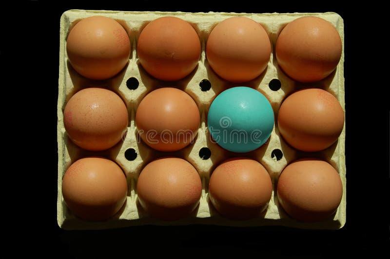 huevo abstracto en azul imagen de archivo libre de regalías