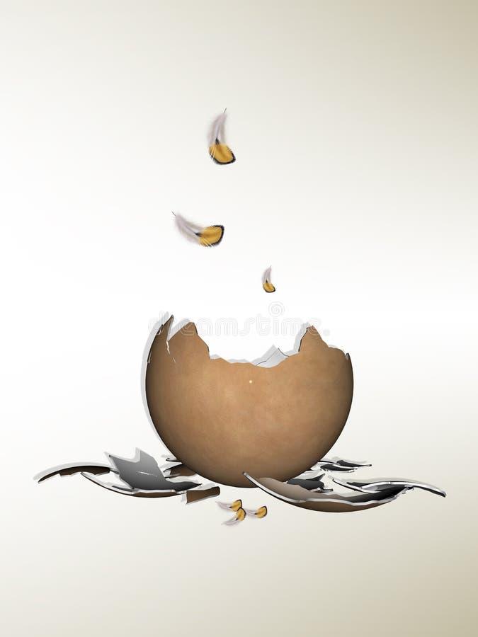 Huevo agrietado ilustración del vector