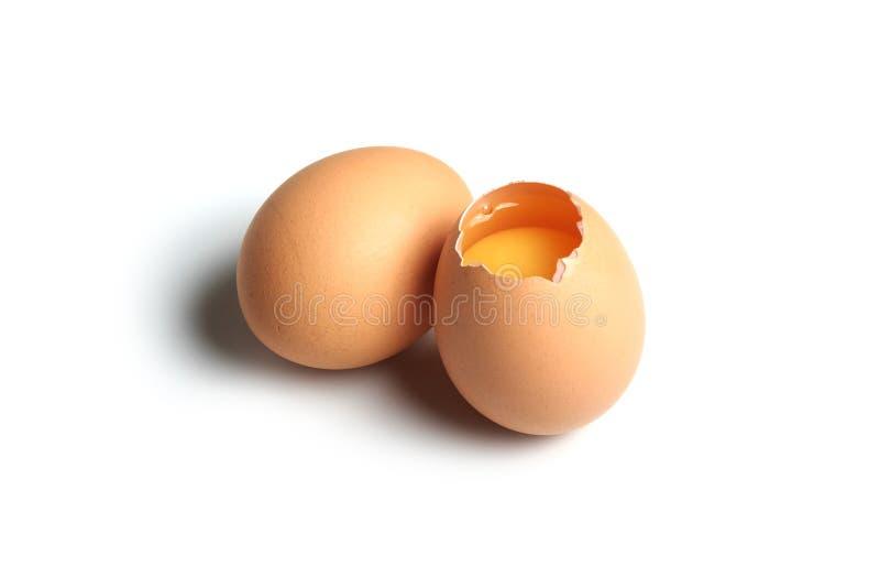 Huevo agrietado fotos de archivo