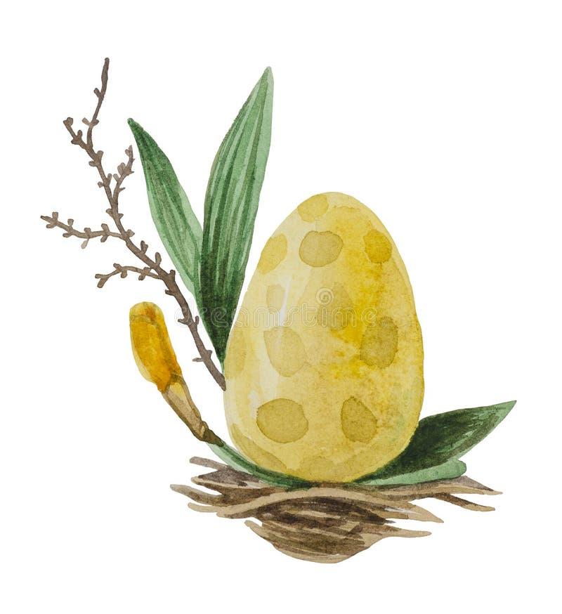 Huevo amarillo en la jerarquía libre illustration