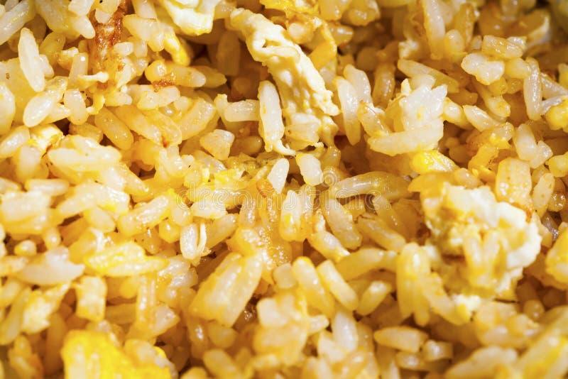 Huevo con arroz frito fotos de archivo