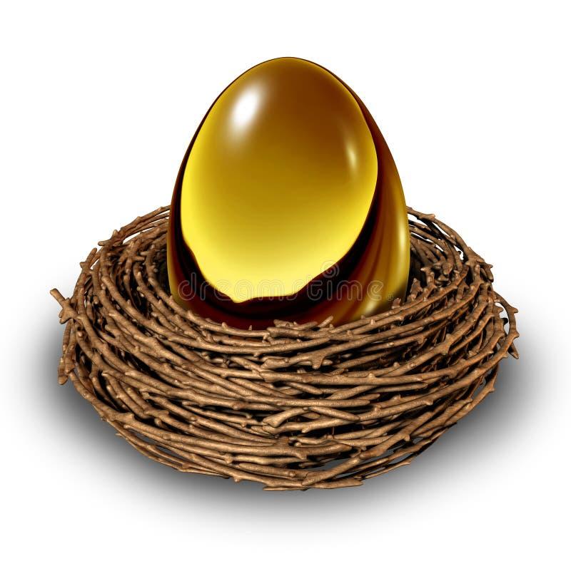 Huevo de jerarquía stock de ilustración