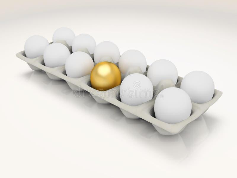 Huevo de oro en un cartón libre illustration